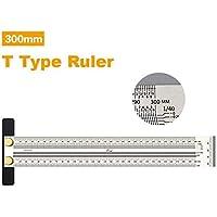 Mayyou T-Rule Scribe Righello governato Misura Righello precisione marcatura Lega di Alluminio metrico Legno Strumento T60 Mini Scribe