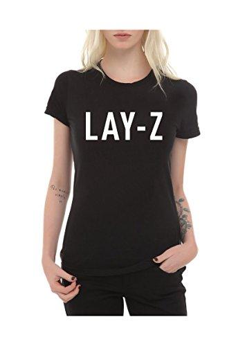 frauen-t-shirt-mit-aufdruck-in-schwarz-m-lay-z-lazy-jay-z-faul-design-girl-top-madchen-shirt-damen-b