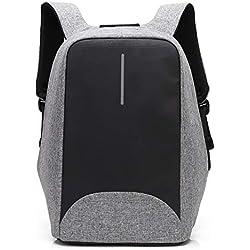 Coolbell Sac à Dos d'ordinateur Portable de 15.6 Pouces avec Port USB de Charge/Sac Anti-vol Léger de Ville/Sac à Dos Fonctionnel Knapsack Backpack/Sac à Dos Imperméable pour Hommes/Femmes (Gris)