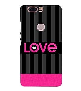 Love Pattern 3D Hard Polycarbonate Designer Back Case Cover for Huawei Honor V8