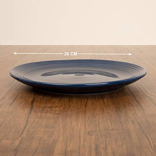 Home Centre Colour Connect Solid Dinner Plate - Blue