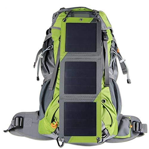 HW 10W Solar Rucksack In - Solartasche Aus Nylon - Wanderrucksack Mit Abnehmbarer Solar Ladefunktion