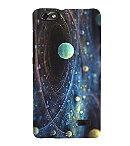 Printvisa Space View Of Rotating Planets 3D Hard Polycarbonate Designer Back Case Cover For Huawei Honor 4C :: Huawei G Play Mini