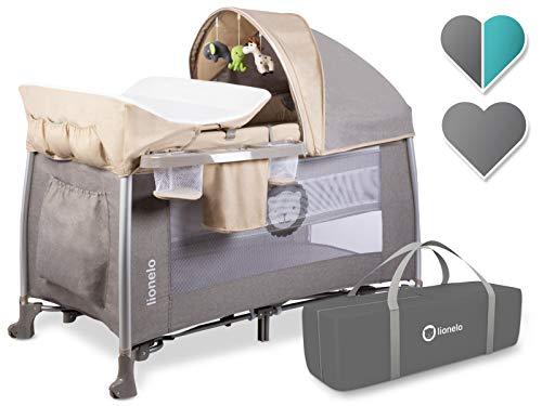 Lionelo Cuna de Viaje Plegable para bebé Simon-Sand
