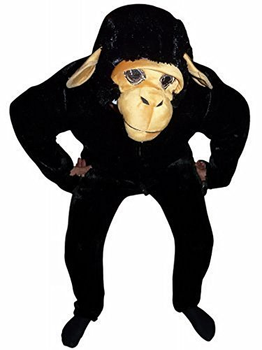 Schimpanse Affen-Kostüm, F84 Gr. L- XL, Affen-Kostüme Affe Schimpansen-Kostüme Affen-Faschingskostüm, Fasching Karneval, Faschings-Kostüme, Geburtstags-Geschenk Erwachsene