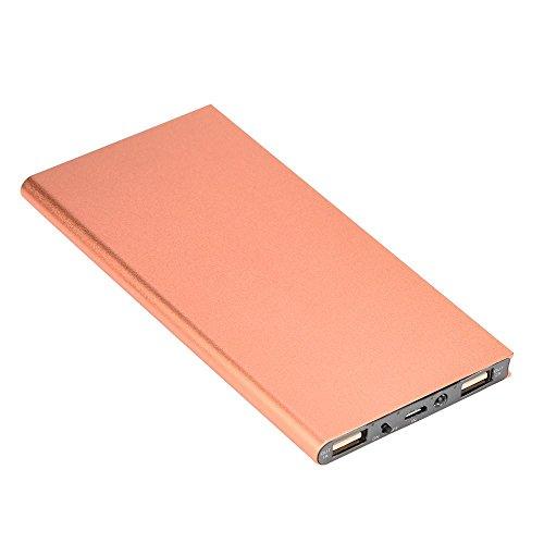 Batería externa TAOtTAO compacta y portátil de 20.000 mAh con cargador USB para móviles , color oro rosa