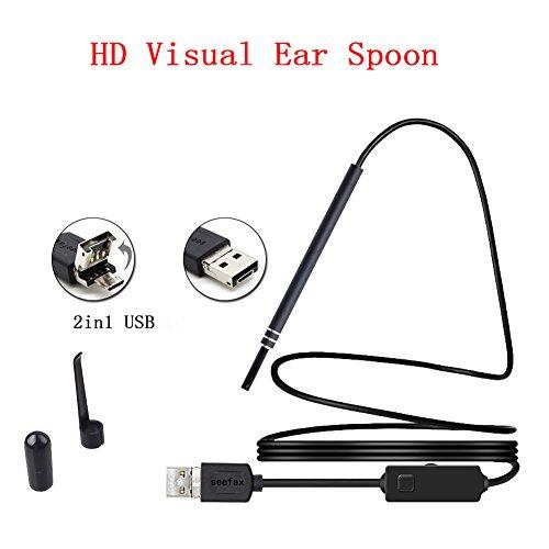 lzn 1 satz Sicht Ohr Löffel Mit Licht Ohr-auswahl Spiegel Ohr Scoop Sichtbare Ohren Löffel Leuchtwerkzeug