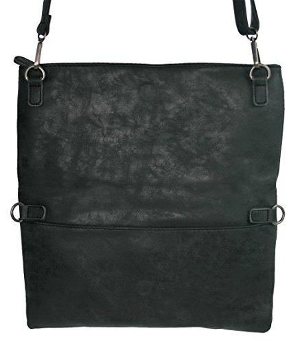 ef4dd52f027f5 ... Jennifer Jones Tasche Damen Handtasche Umhängetasche Schultertasche  Clutch Groß - 3 Tragevarianten Crossbody oder Clutch ...