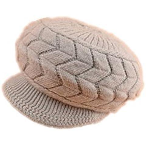 Viskey–della moda caldo berretto a maglia Crochet cappelli caldo Brim
