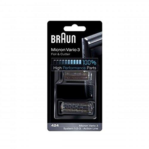 Braun Micron Vario3 Kombipack 424 3011,3025, Messer+Scherblatt