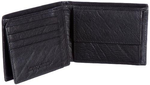 Bruno Banani Crunch_2 W 320.867, Unisex - Erwachsene Portemonnaies, 12x9x2 cm (B x H x T) Schwarz (Black)