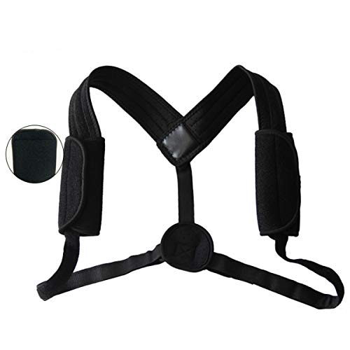Jinxuny Rückenhaltung Korrektor Schlüsselbein Wirbelsäule Unterstützung Verstellbare Haltung Brace Rückenstützgürtel für Frauen Männer Slouching Hunching - Haltung Unterstützung Korrektor