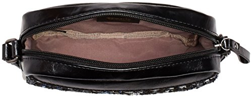 TamarisMANDY Mini Crossover Bag - Borsa a tracolla donna Nero (Schwarz (Black Comb))