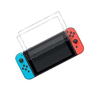 Expresstech @ Protection écran pour Nintendo Switch en Verre Trempé - PACK DE 2 FILMS - Premium Ultra Résistant en Verre Trempé pour Nintendo Switch