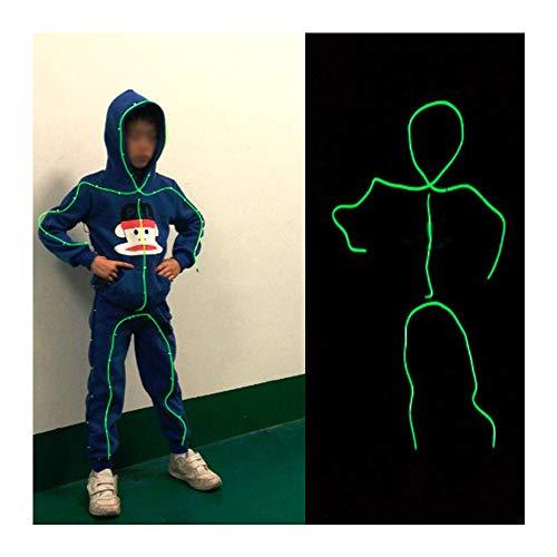 Strichmännchen Kostüm Tanz - YEE Strichmännchen-Kostüm für Halloween, Burning Man,