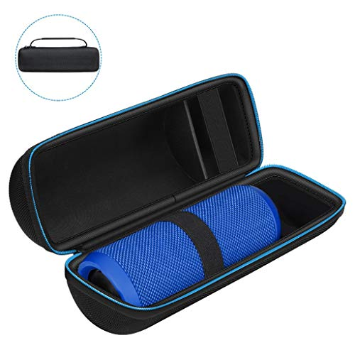 AVIDET La Caja del Filtro Impermeable del Recorrido de para Llevar a JBL Flip 4 Bolsa maletín portátil Bolsa de protección del Altavoz Bluetooth (Negro)
