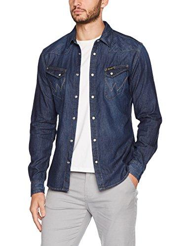 Wrangler Western Denim Shirt, Jean Chemise Homme, Bleu (Dark Indigo 1e), X-Large (Taille Fabricant: 00/XL)