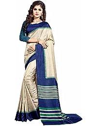 Miraan Printed Art Silk Women's Saree With Blouse Piece(40)