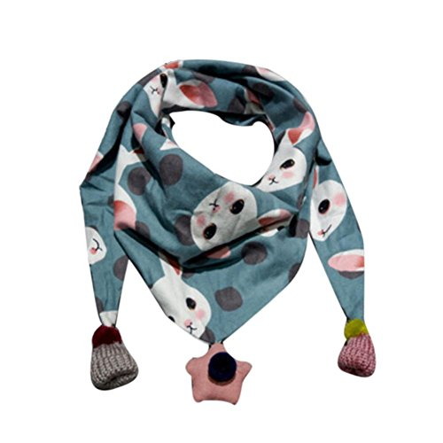 Schal Kinder, Dragon868 Winter Schal Mode Baby Schal Junge Mädchen Halstuch Kopf Hals Kind Schals (Blau) (Größentabelle Mädchen)