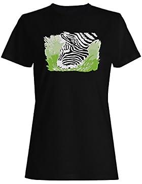 Vintage animal lindo divertido de la cebra camiseta de las mujeres f336f