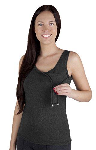 Mija - Stillmode Stillshirt / Stilltop / Still Tshirt / Unterhemd Baumwolle 3060 Graphit