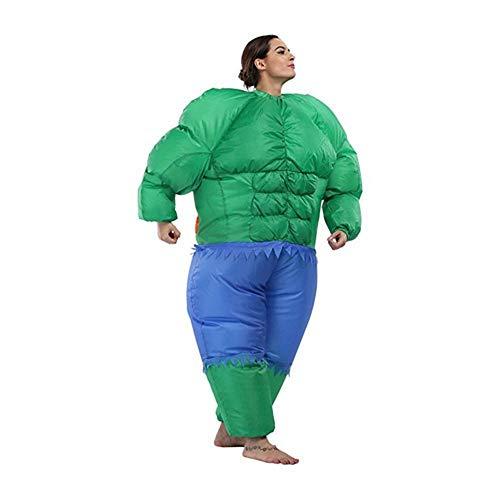 YANKAN Halloween KüRbis Erwachsene Aufblasbar KostüM-Party Cosplay KostüM Hulk Aufblasbaren Anzug Aufblasbare Sumo Muskeln (150-180Cm) (Hulk Aufblasbare)