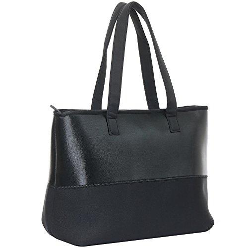 WARUDA LANE Damen Schultertasche Mädchen Handtaschen Soft Premium Leder & Nylon Bowling Bag Hobos Hochwertige Leichte Einkaufstasche Einkaufstaschen Wasserdichte Top-Griff Taschen Strandtasche (Bag Klassische Hobo)