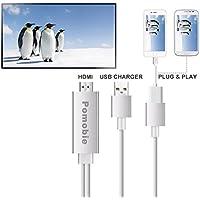 Lacaca cavo Lightning a HDMI adattatore, plug and play Digital AV a HDMI 1080p cavo adattatore connettore per iPhone 7Plus 6s 6S Plus 66Plus 55S 5C SE, iPad, Samsung