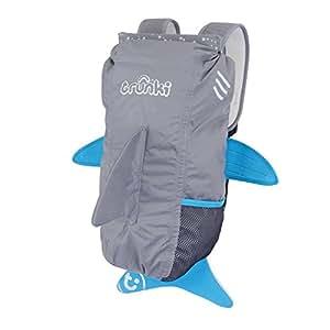 Trunki PaddlePak Water-Resistant Backpack - Finn the Shark (Grey)