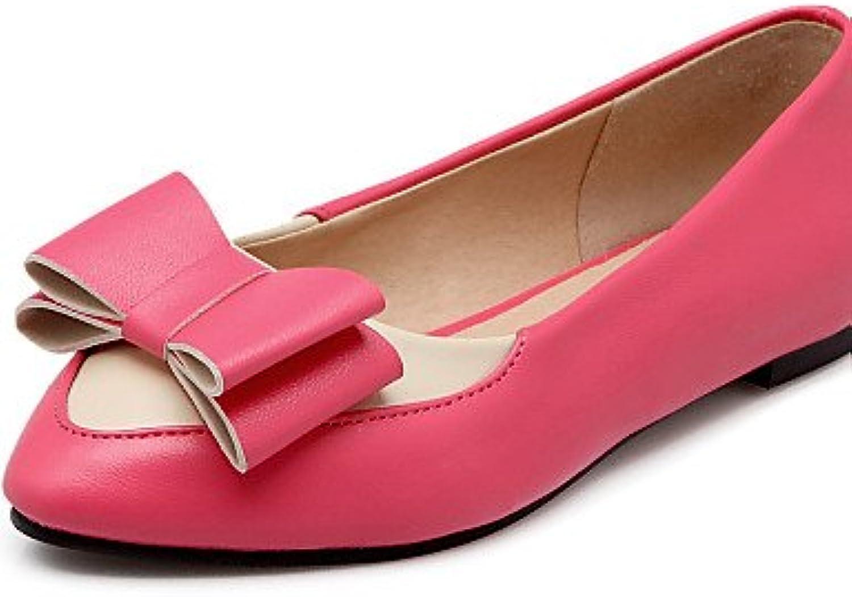 PDX/Damen Schuhe flach Ferse Ballerina/spitz Toe Wohnungen Casual Schwarz/Blau/Pink/Rot