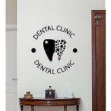 Cvanu Dental Clinic Logo Decorative Wall Sticker Decal _Cv377 (Black)