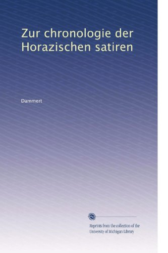 Zur chronologie der Horazischen satiren (German Edition)