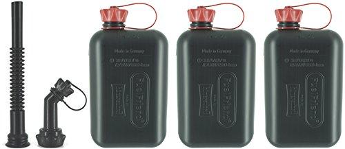 FuelFriend®-Big Max. 2.0 Litri - Tanica con omologazione Un + Tubo-Kit - 3 Pezzi per Un Prezzo Speciale