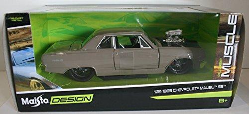 maisto-classic-muscle-1-24-scale-31138-1965-chevrolet-malibu-ss-grey