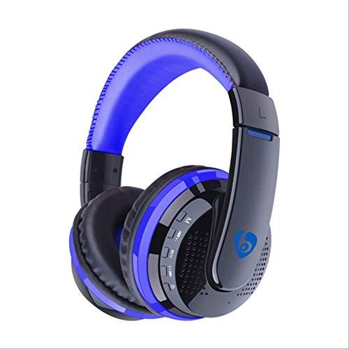 PMWLKJ Bluetooth Kopfhörer Wireless Stirnband Kopfhörer Stereo Headset Unterstützung Fm Tf Karte Freisprecheinrichtung Für Handys Pc blau ohne Box - Fm-stereo-headset