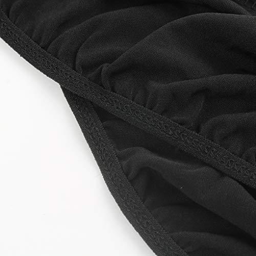 censhaorme Männer reizvolle Wäsche-Unterwäsche-Bodysuit G-String Jockstrap Breath Briefs (Black) -