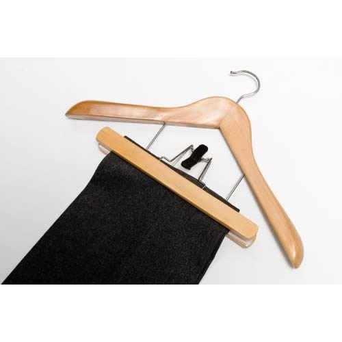 Caraselle 10x Deluxe Wooden Combination Suit Hangers