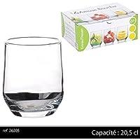 Set aus 6 Glas-Dessertbechern, Verrines, Appetizer-Becher, kleine Shot-/Trinkgläser 20.5CL