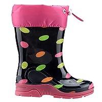 Ayakland Arı Siyah Su Geçirmez Kürklü Çizme Kız Çocuk Bot Ayakkabı