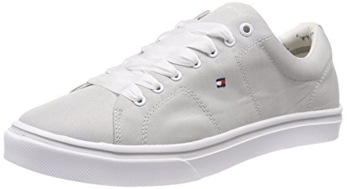 Tommy Hilfiger Damen METALLIC Light Weight LACE UP Sneaker, Grau (Diamond Grey 001), 41 EU Diamond Sneaker