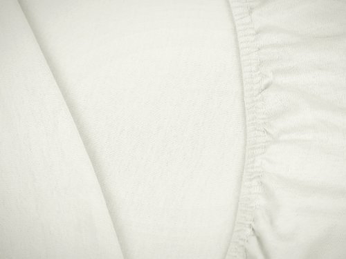 npluseins klassisches Jersey Spannbetttuch - erhältlich in 34 modernen Farben und 6 Verschiedenen Größen - 100% Baumwolle, 70 x 140 cm, Perlmutt - 5