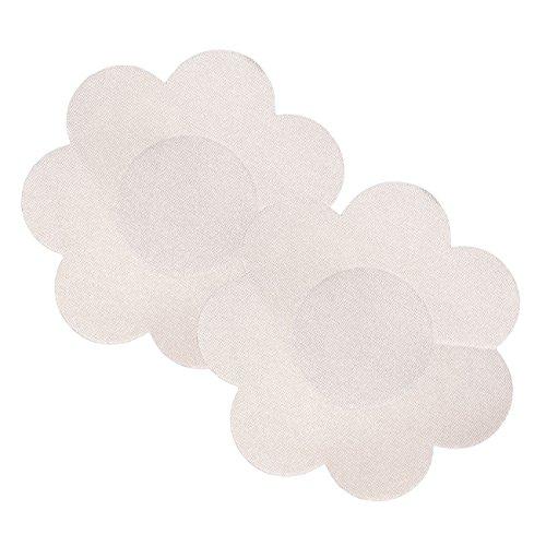Wingslove 10 Pares Desechable Pegatinas Pezón Pezoneras para Mujer (Flor Satén)