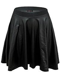 Envy Boutique - Mini Jupe Patineuse Brillant Aspect Humide PVC Taille EU 36 - 42