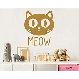 Cat nursery wall stickers - Cats kids room art sticker - Baby Boy and girl Vinyl window decals - Bedroom Large Mural