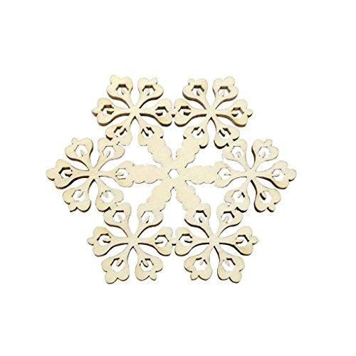 Sunlera Aushöhlen Anhänger Hängende Schneeflocke Log Holzspan-Kunst-Fertigkeit-Dekoration Geschenke Verzierung Weihnachtsfest