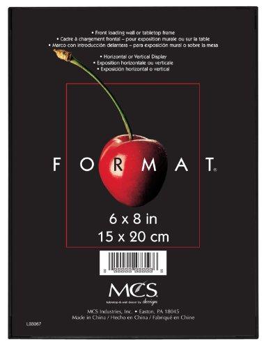 MCS 47356Format Rahmen, 6von 20,3cm, Schwarz, schwarz, 6-x-8-inch (6x Bilderrahmen)