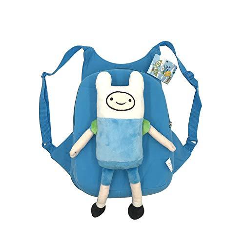 QYS Abenteuer Zeit mit Finn und Jake - Character Plush Backpack von Cartoon Network,Finn - Abenteuer Jake