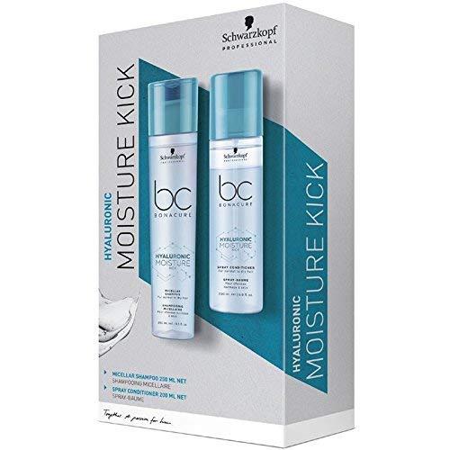 Schwarzkopf Professional Bonacure Hyaluronic Moisture Kick DuoSet aus Micellar Shampoo - 250 ml und Spray Conditioner - 200 ml, 450 ml