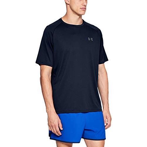 Under Armour Herren Tech 2.0 T-Shirt, Atmungsaktives Sporthemd, Blau (Academy (408), XXX-Large