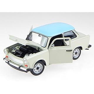 Trabant 601 creme blau Modellauto 24037 Welly 1:24